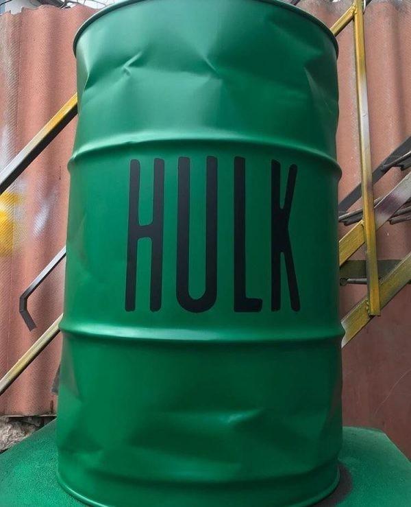 Hulk Yazılı Dekoratif Variller